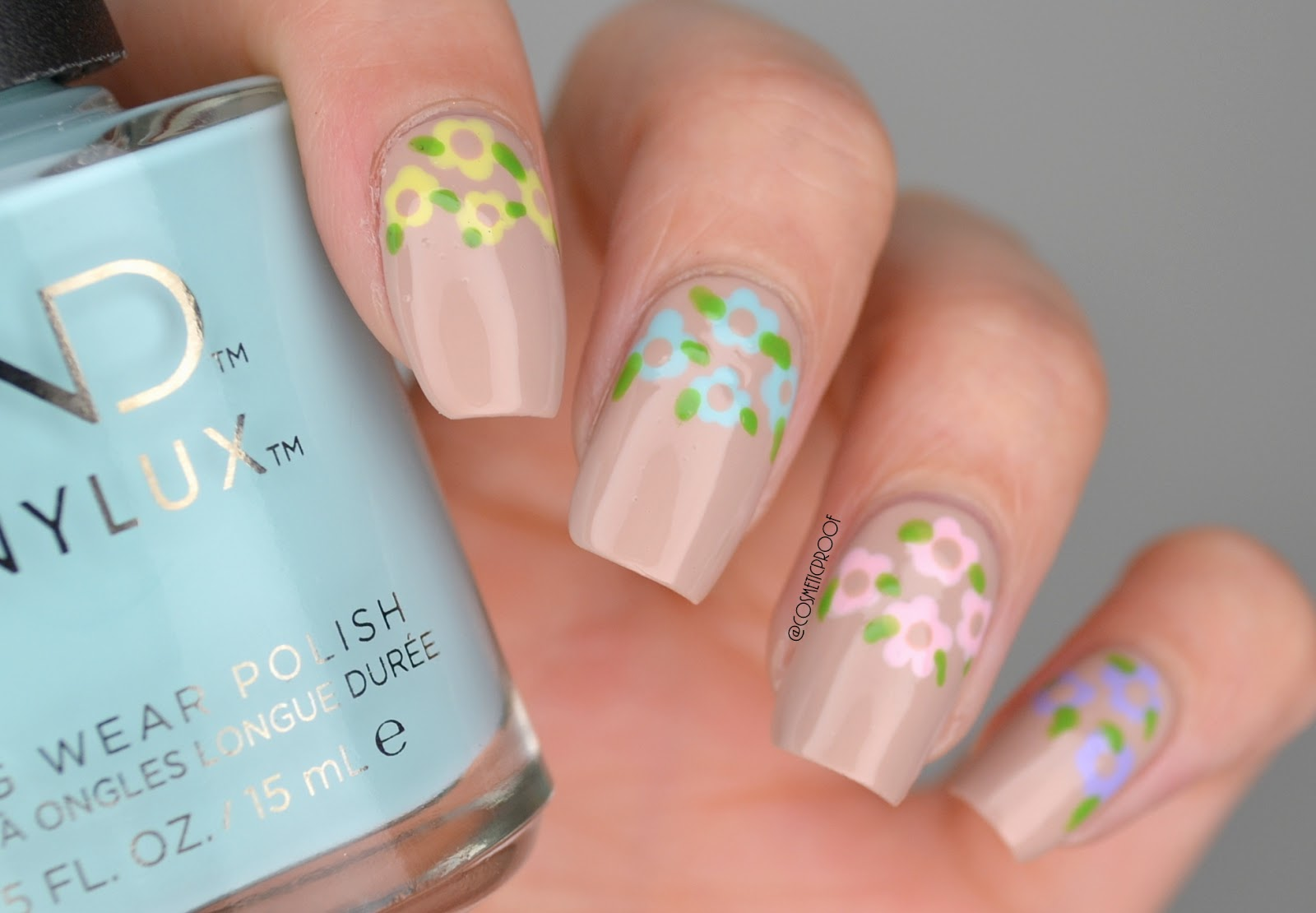 Nails hello spring manimonday cosmetic proof vancouver flower dotticure nail art izmirmasajfo