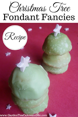 Recipe Christmas Tree Fondant Fancies Christmas Cake baking ideas