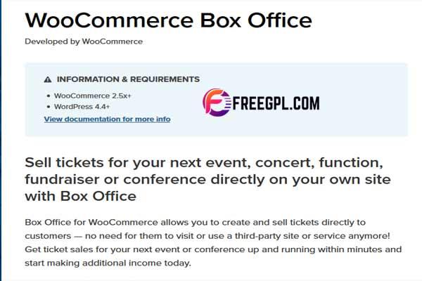 WooCommerce Box Office WordPress Plugin Free Download
