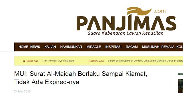 Difitnah Media Wahabi Sebut Al-Maidah 51 telah Expired, ini Bantahan Gus Ishom