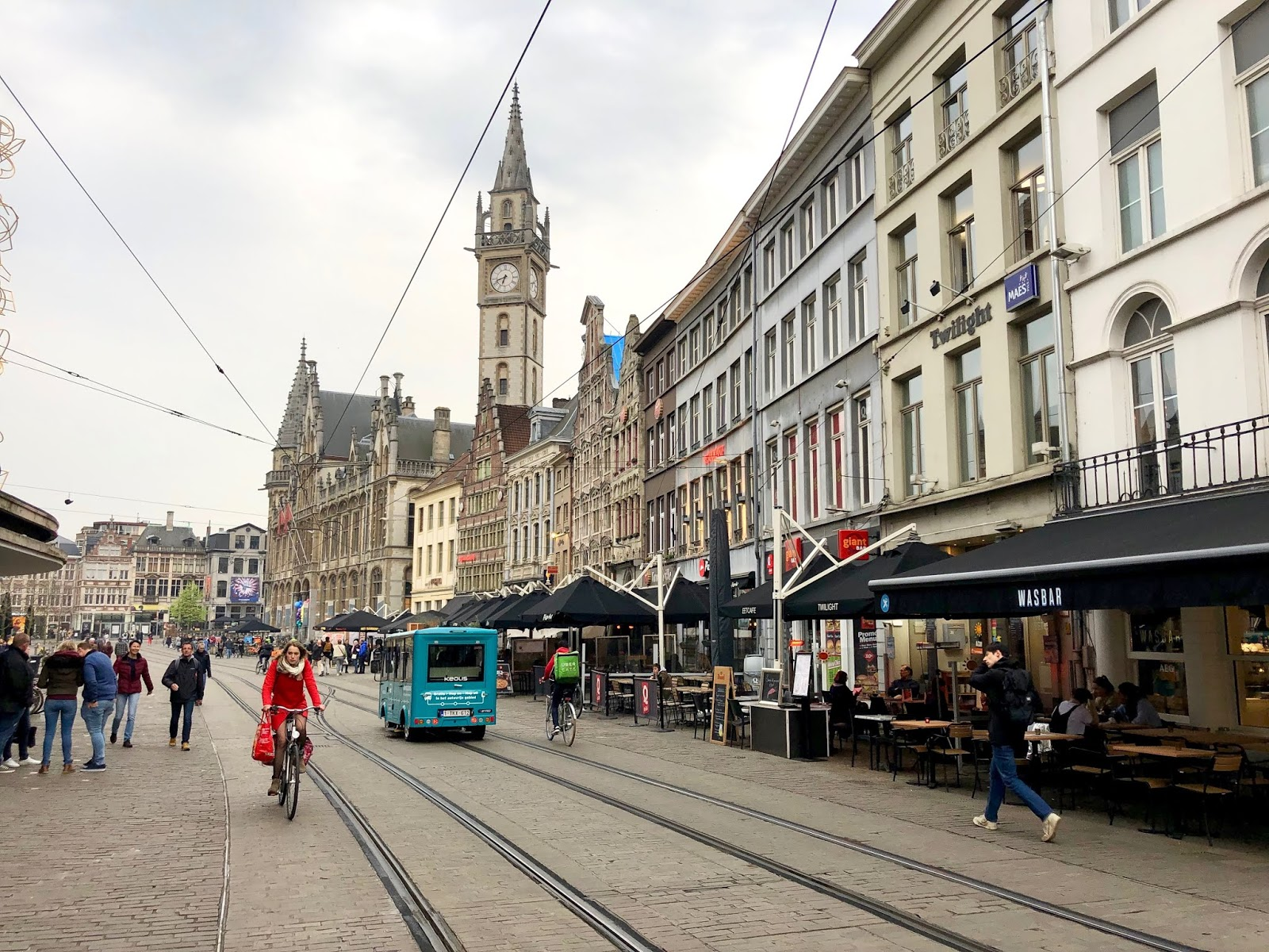 Streets of Gent, Belgium in spring 2019
