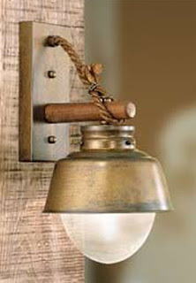 Aplique Iluminacion Pared Amarras Rustico