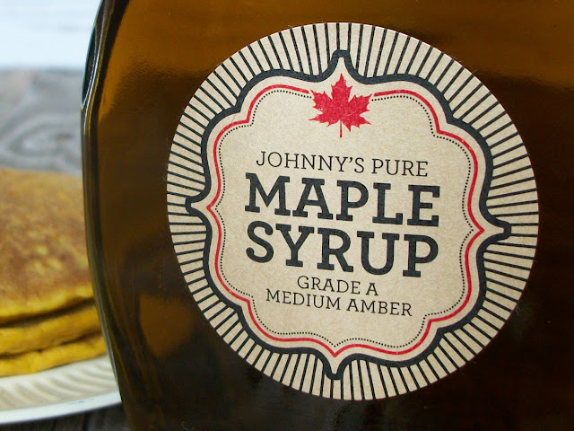 Custom Kraft Burst Maple Syrup Labels