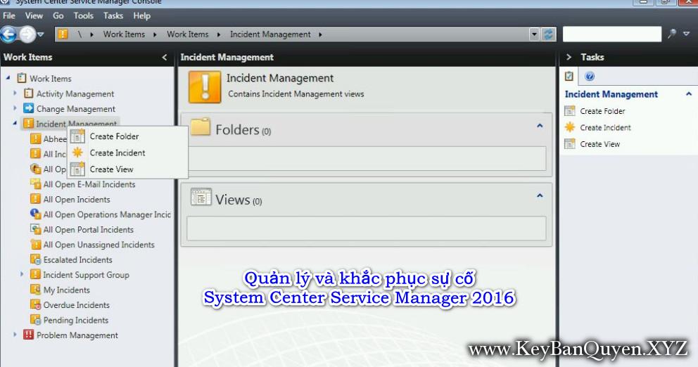 Hướng dẫn Quản lý và khắc phục sự cố của System Center Service Manager 2016 (SCSM)