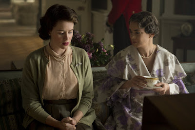 Victoria Hamilton and Claire Foy in The Crown (42)