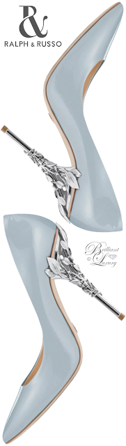 Ralph & Russo light blue Eden Eve pump #brilliantluxury