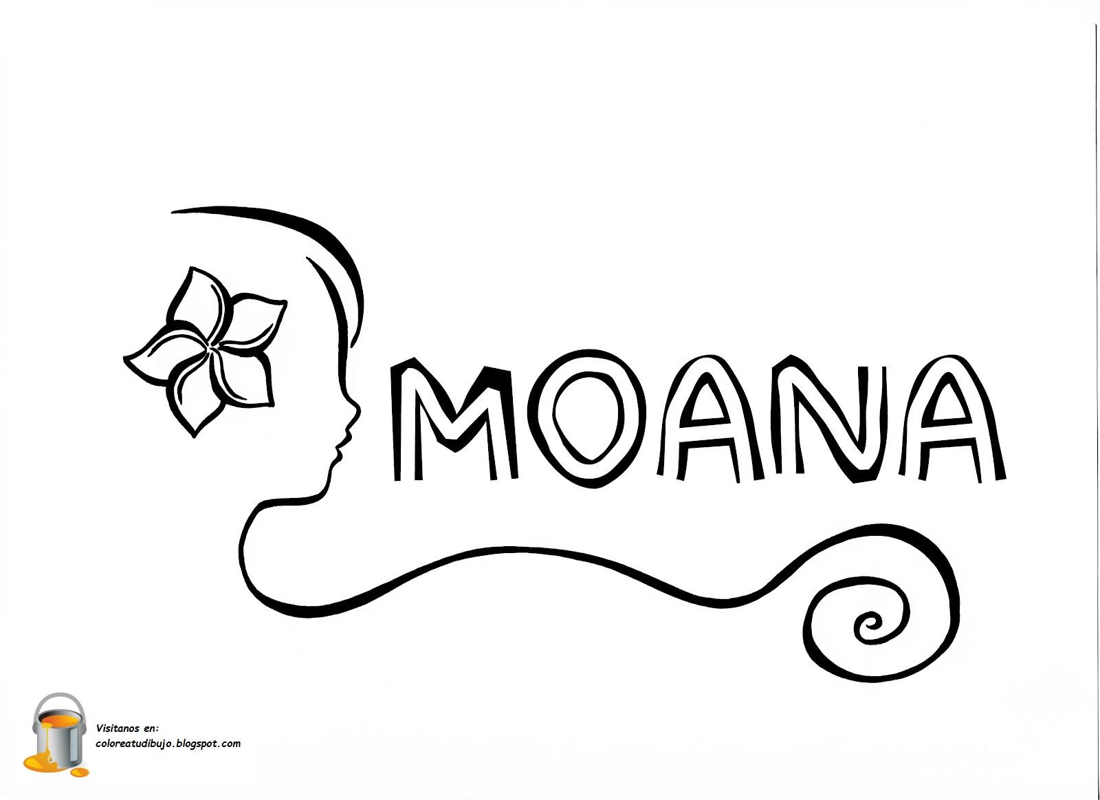 Dibujo Para Colorear De Maui Personaje Película Moana: COLOREA TUS DIBUJOS: Moana Para Colorear Y Pintar
