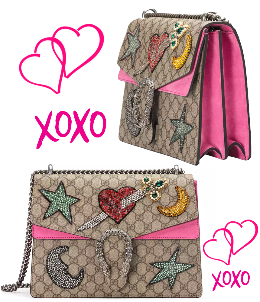 Gucci Dionysus Embroidered Shoulder Bag, Multi/Pink