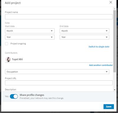 Tạo Project để đặt backlink