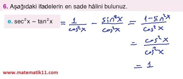 11. Sınıf Top Yayınları Matematik 47. Sayfa Cevapları 1. Ünite