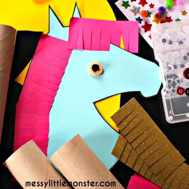 Making a simple hobby horse using free printable and cardboard tube