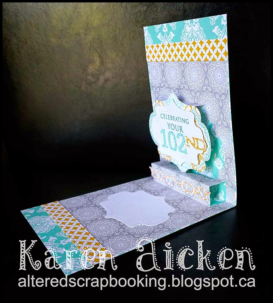 Altered Scrapbooking: 102nd Birthday Pop Up Card
