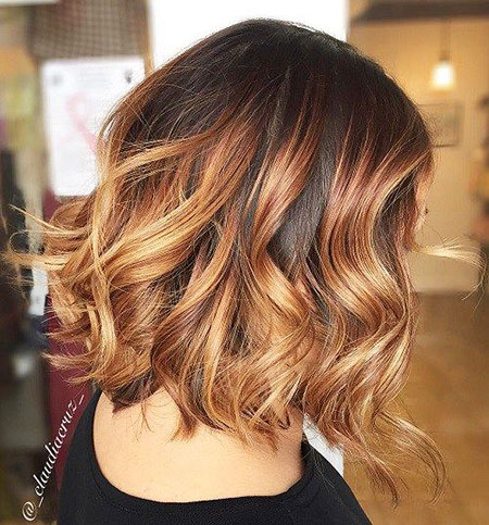 short ombre hair with fringe