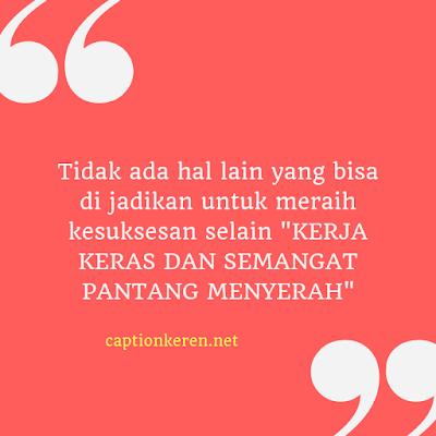 caption motivasi sukses