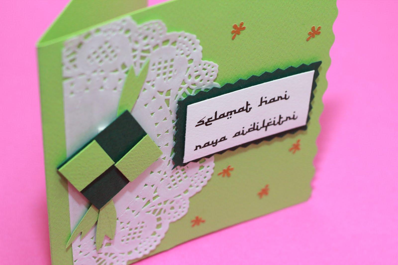 lovelyhandmade card ketupat