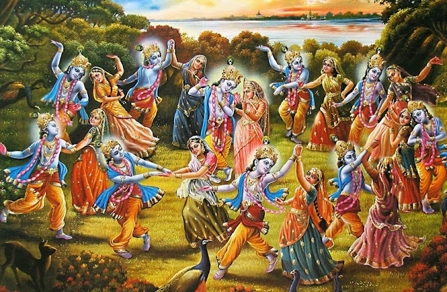 radha krishna playing holi in vrindavan images