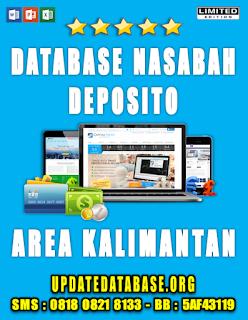 Jual Database Nasabah Deposito Kalimantan