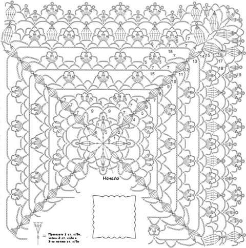 World crochet: Napkin 289