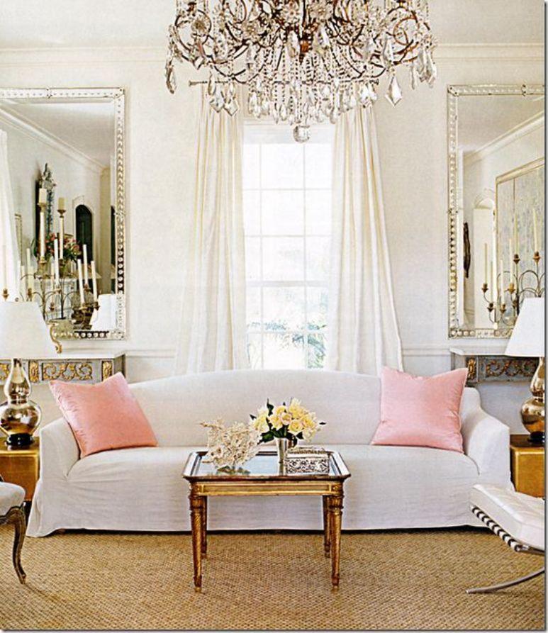 Antic chic decoraci n vintage y eco chic get the look for Espejo salon grande