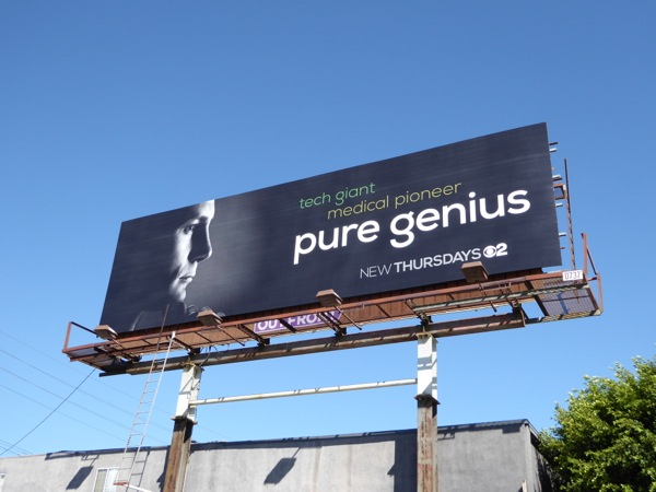 Pure Genius series premiere billboard