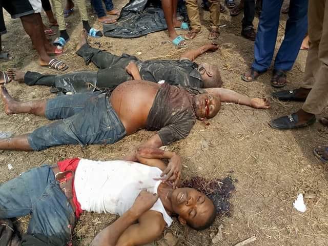 Photos: Suspected kidnappers shot dead in botched kidnap attempt in Rivers State