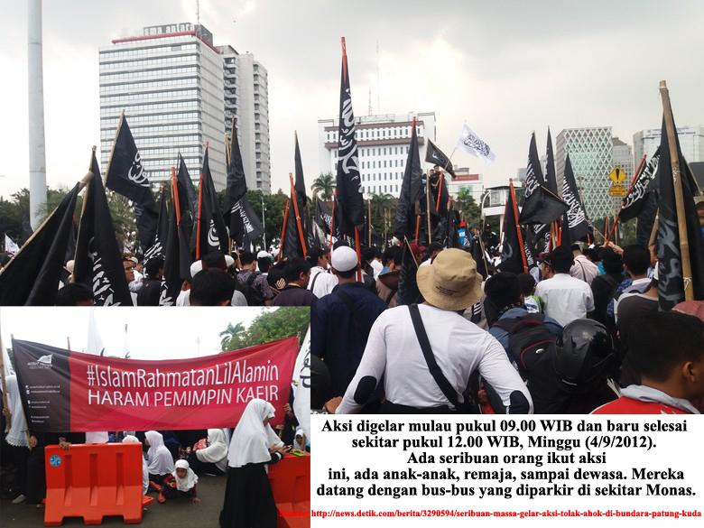 Aksi ribuan Massa Tolak Ahok Jadi Gubernur DKI Jakarta