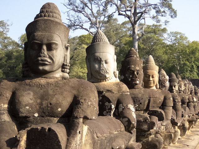 Entrace to Angkor Thom city in Cambodia