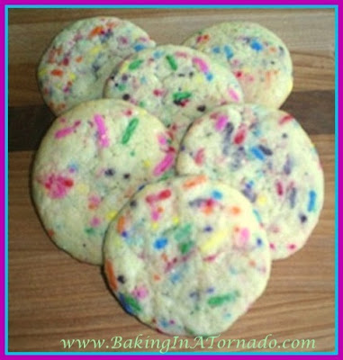 Confetti Slice and Bake Cookies | www.BakingInATornado.com | #recipe