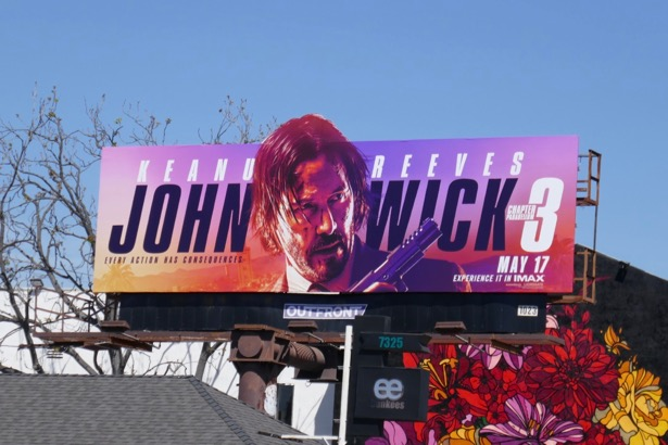 John Wick 3 movie billboard