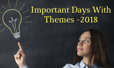 Important Days With Themes 2018 - PDF