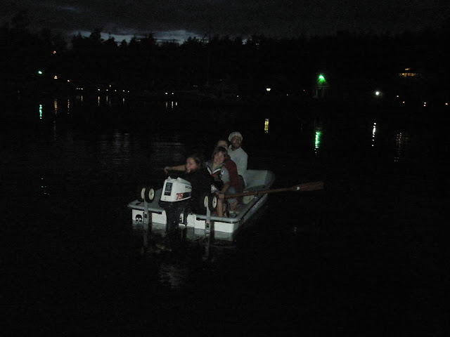 overloaded dinghy