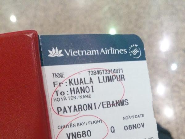Hanoi,Vietnam : Departure & Arrival day (8/11/2013)