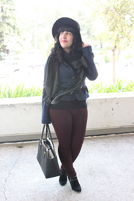 Marc Jacobs Coat Burgundy Pants Fall Work Outfit