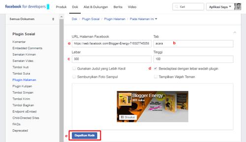 Cara Membuat dan Memasang Fans Page Facebook di Blog
