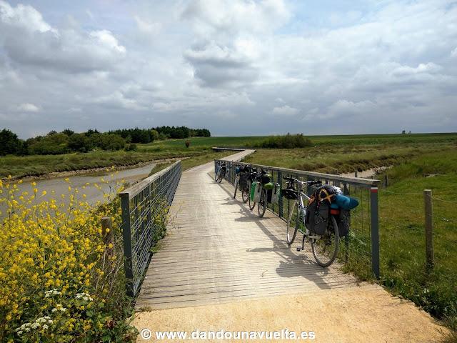 Viaje en bici en La Velodyssee, Francia