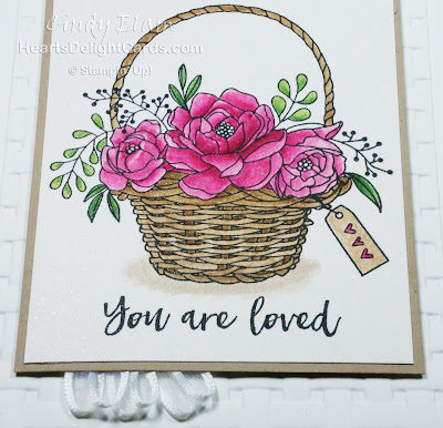 Heart's Delight Cards, Blossoming Basket, Sale-A-Bration Second Release 2018, You are Loved, Stampin' Up!, Basket, Flowers,