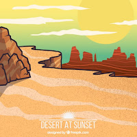 desert at sunset freepik.com