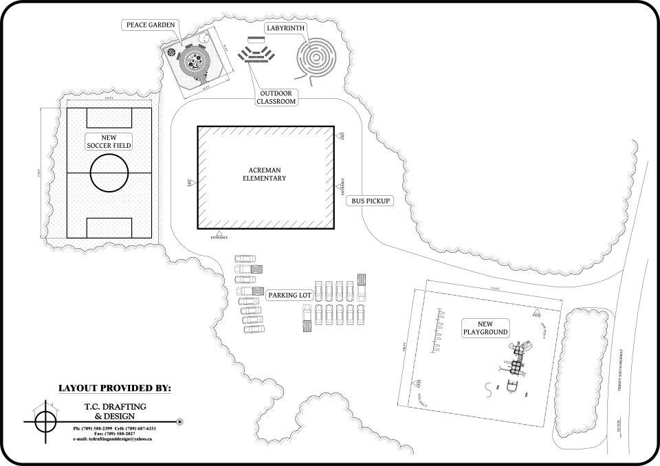 Acreman School & Community Playground: Overview of School