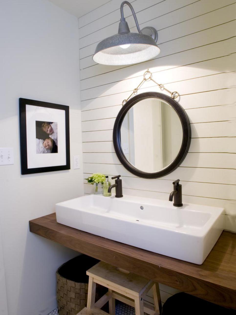 Lovely Ship lap bathroom