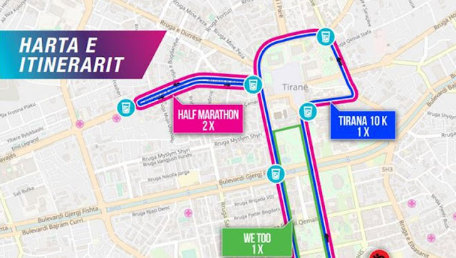 The Third Marathon of Tirana 2018; the itinerary revealed