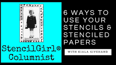 Six Ways to Use Your StencilGirl® Stencils & Stenciled Papers for Book Art Projects
