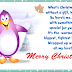 Merry Christmas Card, Greetings, Message Poems 2016