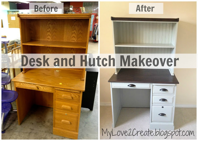 MyLove2Create, Desk and Hutch Makeover