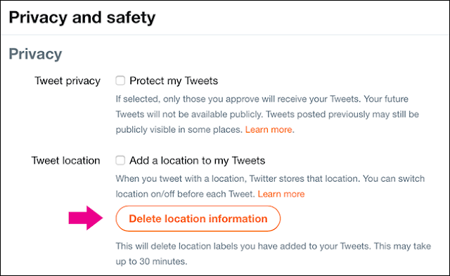 How to Delete All Location Information from Your Previous Tweets