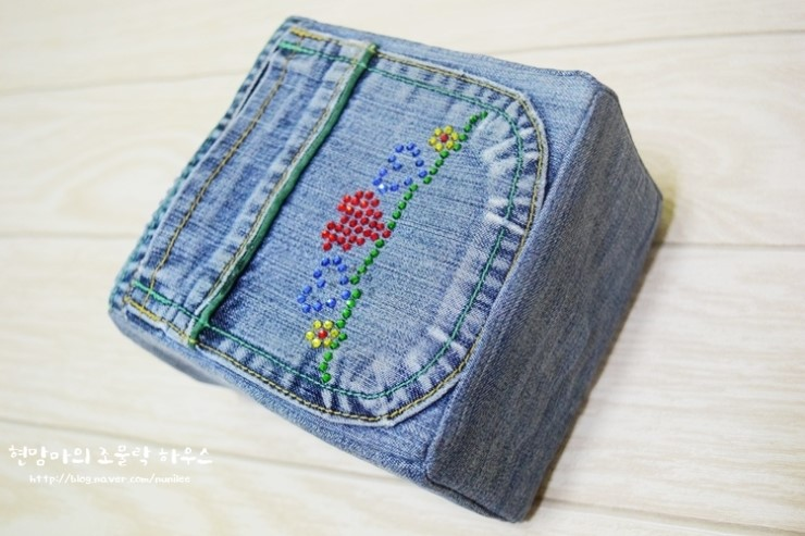 Denim Storage Bags from old jeans.