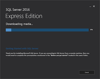 SQL Server Express 2016 - Downloading Media