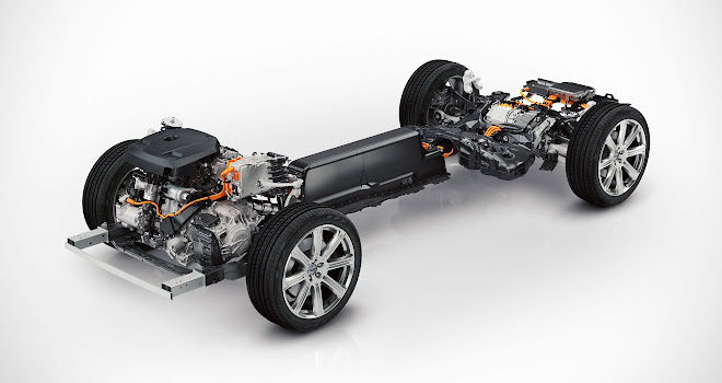 Volvo XC90 T8 powertrain layout