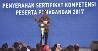 566 Peserta Uji Kompetensi 2017 Tidak Lulus, Jokowi : Kalau Lulus Semua Saya Malah Curiga