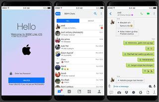 BBM Mod Like IOS Tema Iphone Style