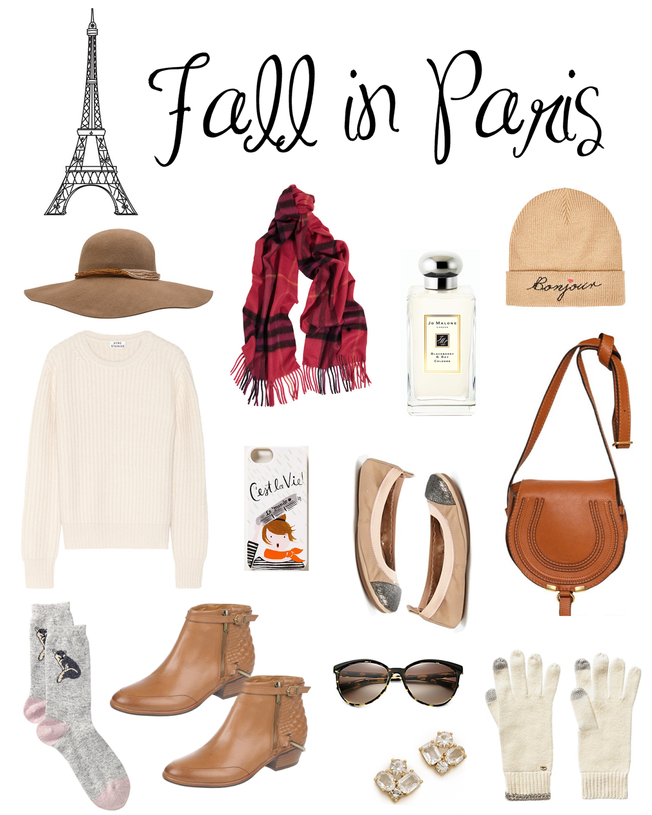 dddf165a2871b5 Boho wool floppy brimmed hat {here} // Cashmere Burberry scarf in a  beautiful rich hue {here} // My all time favie Jo Malone scent {view here}  // Adorable ' ...
